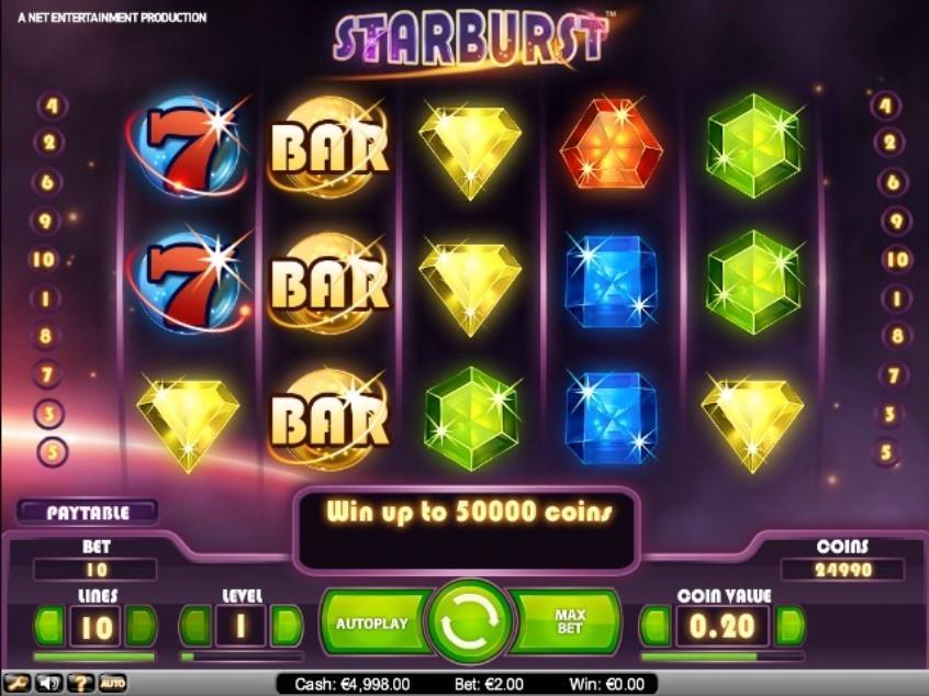 Starburst характеристики игры
